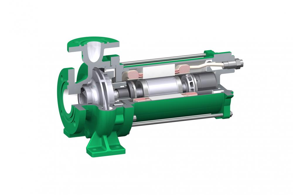 Liquides frigorigènes (Alcali, huile silicone) - Solution HERMETIC : pompe à rotor noyé