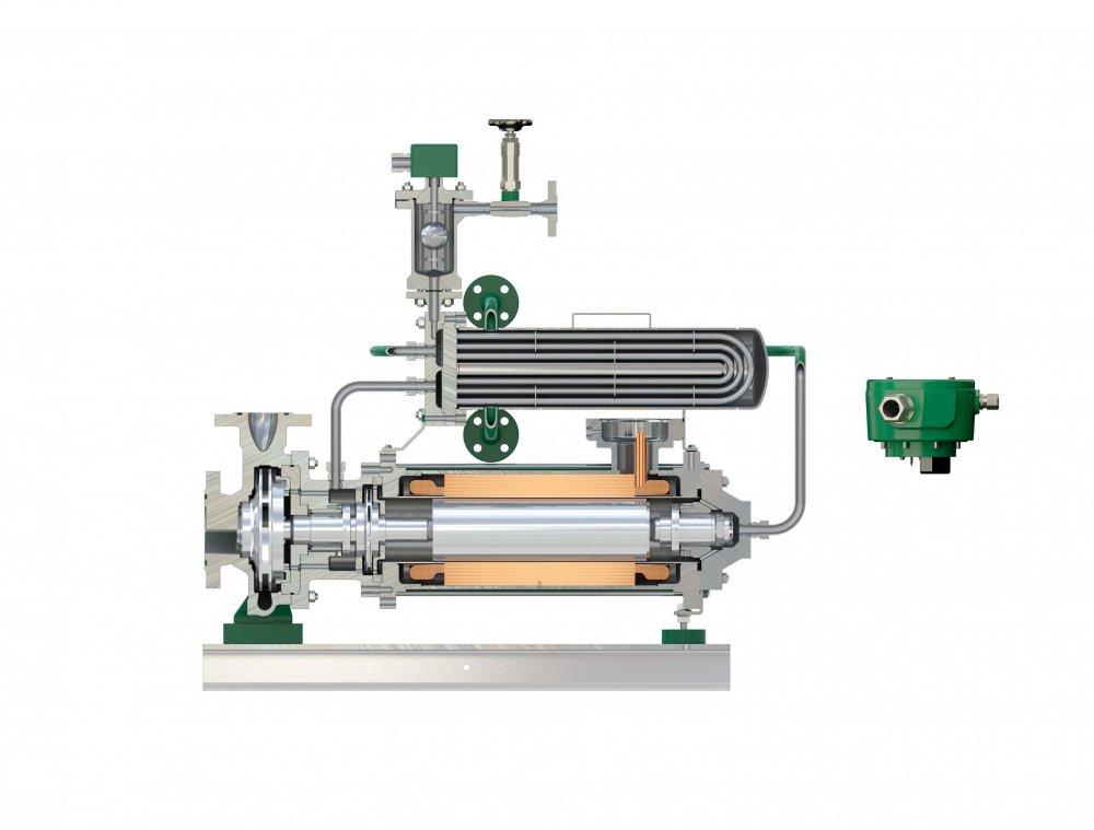 Liquides à températures élevées (max. 360°C) - Solution HERMETIC : pompe à rotor noyé ou pompe à accouplement magnétique