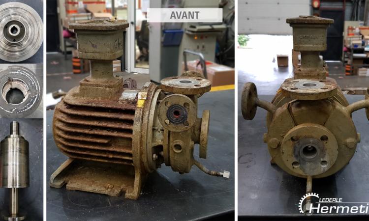 Pompe à rotor noyé Salmson CS31 avant réparation